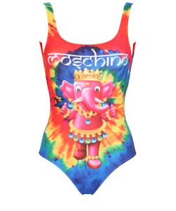 MOSCHINO BEACHWEAR | Elephant Tie Dye Lycra Bathing Suit
