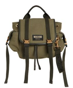 Moschino | Рюкзак Из Хлопкового Канвас