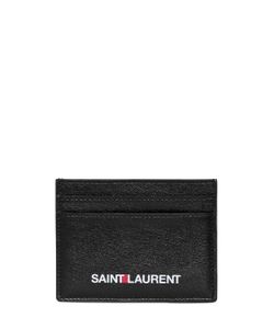 Saint Laurent | Logo Print Leather Cit Card Holder