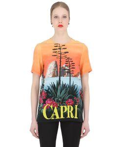 Dolce & Gabbana   Топ Из Крепдешина С Принтом Capri