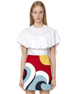 Red Valentino | Stretch Cotton Poplin Top