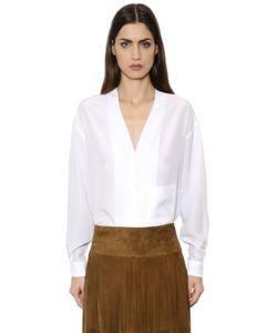 Simonetta Ravizza | V Neck Crepe De Chine Shirt