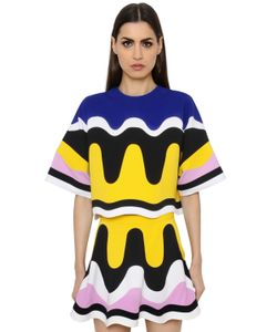 Emilio Pucci | Patchwork Waves Milano Jersey Top