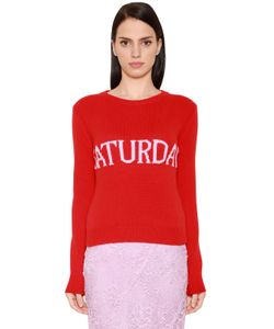 Alberta Ferretti | Saturday Wool Cashmere Knit Sweater