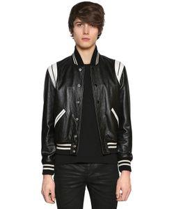 Saint Laurent   Куртка Из Мягкой Кожи Модель Teddy