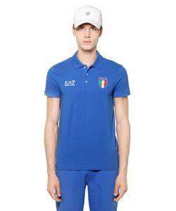 EA7 | Поло Italian Team Из Хлопкового Джерси