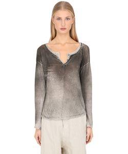 Transit Par-Such | Hand Dyed Linen Jersey Henley T-Shirt