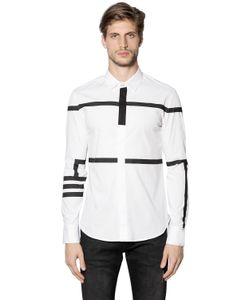 Bikkembergs | Striped Stretch Cotton Poplin Shirt