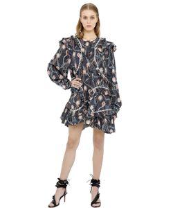 Isabel Marant   Платье Из Поплин С Цветочным Принтом