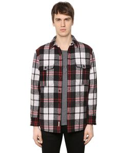 Burberry | Padded Check Wool Flannel Shirt