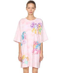 Moschino | Платье-Футболка Из Джерси С Принтом Little Pony