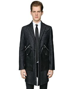 Dsquared2 | Пальто Из Шерсти И Кожи