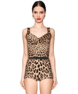Dolce & Gabbana | Топ Из Шёлкового Стретч Кади С Леопардовым Принтом