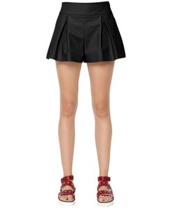 Red Valentino | Stretch Cotton Pleated Shorts