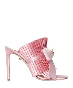 Fausto Puglisi | 100mm Ruffled Satin Mules W Bow