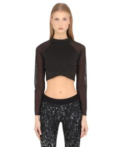 Reebok | Long Sleeve Microfiber Crop Top
