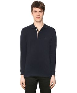 Burberry | Long Sleeve Piqué Polo W Check Placket