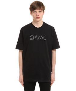 OAMC | Футболка Из Хлопкового Джерси С Принтом Omega