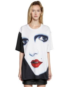 Jeremy Scott | Face Printed Cotton Jersey T-Shirt