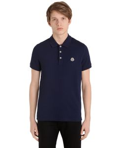 Moncler | Рубашка-Поло Из Хлопка-Пикé С Логотипом