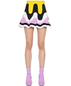 Emilio Pucci | Patchwork Waves Milano Jersey Skirt