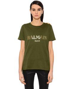 Balmain | Футболка Из Хлопкового Джерси С Принтом Логотипа