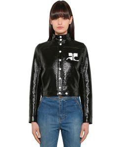 Courreges | Куртка Из Искусств. Лакированной Кожи С Логотипом