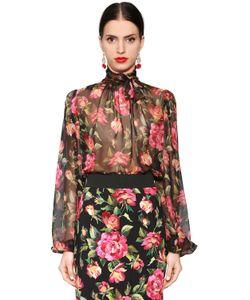 Dolce & Gabbana | Блузка Из Прозрачного Шифона С Цветочным Принтом