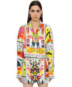 Emilio Pucci | Cropped Maya Printed Silk Twill Shirt