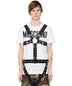 Moschino | Футболка Из Хлопкового Джерси С Принтом Логотипа