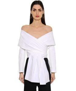 ROSETTA GETTY | Блуза Из Полухлопкового Фай