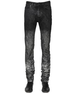 Diesel Black Gold | 17cm Washed Coated Stretch Denim Jeans
