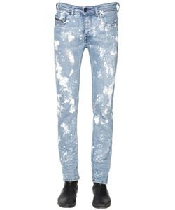 Diesel Black Gold | 16.5cm Paint Stained Stretch Denim Jeans