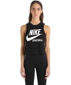 Nike | Укороченная Майка Из Хлопкового Джерси