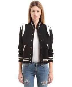Saint Laurent | Куртка-Бомбер Из Шерстяного Фетра Модель Teddy