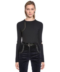 Nina Ricci | Wool Knit Sweater W Elbow Cutouts