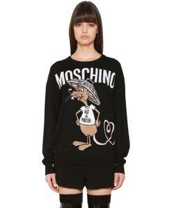 Moschino | Свитер Из Интарзийного Трикотажа