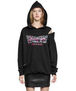 Jeremy Scott | Hooded Cotton Sweatshirt W Zip Detail