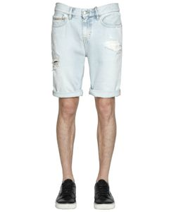 Calvin Klein Jeans | Destroyed Bleached Denim Shorts