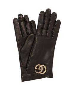 Gucci | Кожаные Перчатки С Бусинами В Виде Жемчужин