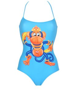 MOSCHINO BEACHWEAR | Monkey Printed Lycra Bathing Suit