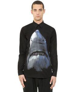 Givenchy | Рубашка Из Поплин С Принтом Акула