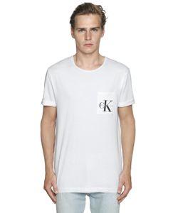 Calvin Klein Jeans | Logo Details Cotton Jersey T-Shirt
