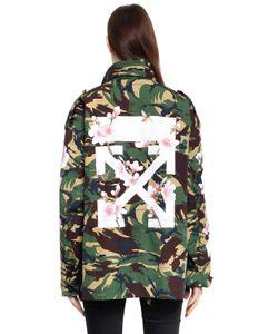 OFF-WHITE | Куртка M65 С Принтом Camo Cherry Blossom