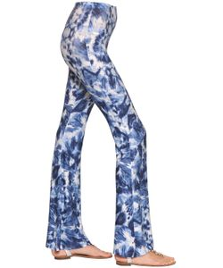 BLACK CORAL | Tie Dye Print Jersey Fla Leggings