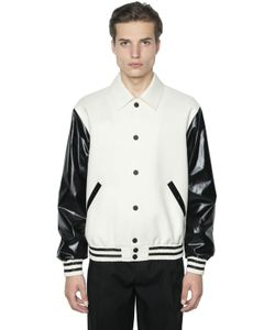 Calvin Klein Collection | Куртка-Бомбер Из Шерсти И Искусственной Кожи