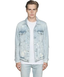 Calvin Klein Jeans | Destroyed Bleached Cotton Denim Jacket