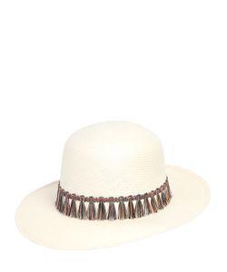 SUPERDUPER | Tondo Woven Waxed Paper Hat W Tassels