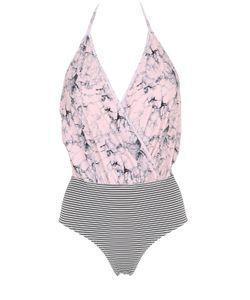 Albertine   Camarat Marble Seersucker Swimsuit