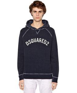 Dsquared2 | Свитер Из Хлопкового Джерси С Капюшоном И Принтом